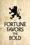 Fortune Favors the Bold Motivational Latin Proverb Poster Masterprint