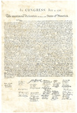 Declaration of Independence Authentic Reproduction Sepia Art Poster Print Poster