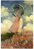 Claude Monet (Woman with a Parasol, Study) Art Poster Print Print
