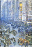 Childe Hassam Fifth Avenue Art Print Poster Prints
