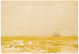 James Whistler Seascape with Schooner Art Print Poster Posters