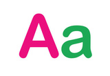 Kids Alphabet Letter A Sign Poster Masterprint