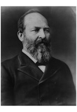 James A Garfield (Portrait) Art Poster Print Print