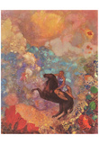 Odilon Redon (Muse on Pegasus) Art Poster Print Posters