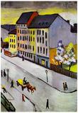 August Macke Street in Gray Art Print Poster Posters