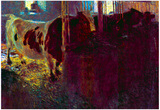 Gustav Klimt Cows in Stall Art Print Poster Photo