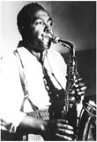 Charlie Parker Playing Sax Archival Photo Music Poster Print Posters