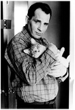 Jack Kerouac with Cat Archival Photo Poster Print Poster