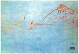 Gustav Klimt Liegender Female Nude Art Print Poster Posters