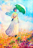 Claude Monet Lady with Sunshade Study Art Print Poster Masterprint