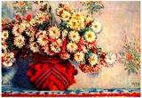Claude Monet Still Life Chrysanthemums Art Print Poster Fotky