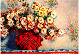 Claude Monet Still Life Chrysanthemums Art Print Poster Print