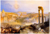 Joseph Mallord Turner Modern Rome Camp Vaccino Art Print Poster Posters