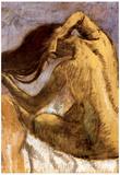 Edgar Degas Female Combing Hair Art Print Poster Prints