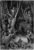 "Gustave Doré (Illustration to Dante's ""Divine Comedy,"" Inferno - Suicides) Art Poster Print Poster"