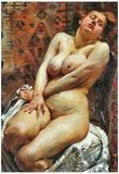 Lovis Corinth Nana, Female Nude Art Print Poster Print
