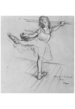 Edgar Germain Hilaire Degas (Little Dancer at the Bar) Art Poster Print Prints