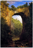 Frederick Edwin Church The Natural Bridge Virginia Art Print Poster Posters