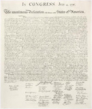 Declaration of Independence United States of America Art Poster Print Masterprint
