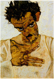 Egon Schiele Self-Portrait with Lowered Head Art Print Poster Posters