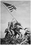 Iwo Jima Raising the Flag WWII Archival Photo Poster Print Foto