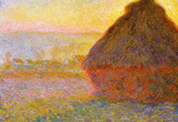 Claude Monet Graystacks Art Print Poster Masterprint