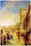Joseph Mallord Turner The Grand Canal in Venice Art Print Poster Photo