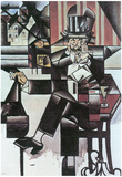 Juan Gris Man in Cafe Cubism Art Print Poster Photo