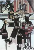 Juan Gris Man in Cafe Cubism Art Print Poster Photo