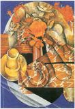 Juan Gris Leafs Cubism Art Print Poster Posters