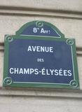 Champs-Elysees (Sign) Art Poster Print Masterprint