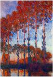 Claude Monet Poplars 3 Art Print Poster - Reprodüksiyon