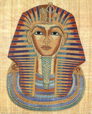 Egyptian King Tut Art Print POSTER Pharaoh Ancient Masterprint