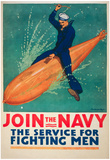 Join the Navy War Propaganda Vintage Ad Poster Print Posters