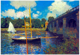 Claude Monet The Road Bridge Argenteuil Art Print Poster Prints