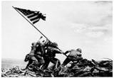 Flag Raising on Iwo Jima (February 23, 1945) Art Poster Print Posters