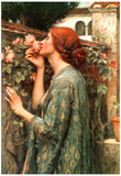 John William Waterhouse My Sweet Rose Art Print Poster Affiches