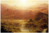 Frederick Edwin Church The Andes of Ecuador Detail Art Print Poster Foto