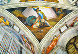 Michelangelo Buonarroti (Ceiling fresco of Creation in the Sistine Chapel, scene in Bezel: David an Masterprint