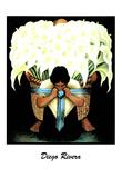 Lady W/ Basket of Lillies Diego Rivera ART PRINT POSTER - Posterler