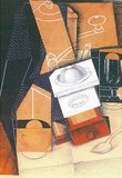 Juan Gris Coffee Grinder Cup and Glass on a Table Cubism Art Print Poster Masterprint