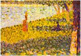 Georges Seurat Women on the Shore Art Print Poster Prints