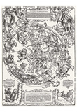 German Champion of 1558 (Map of the northern sky) Art Poster Print Prints