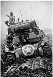 M3 Tank in Mud WWII Archival Photo Poster Print Photo
