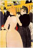 Henri de Toulouse-Lautrec At the Moulin Rouge la Goulue and her Sister Art Print Poster Poster