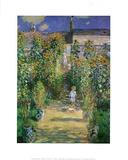 Garden At Vetreuil Claude Monet art print POSTER RARE Masterprint