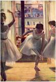 Edgar Germain Hilaire Degas (Three dancers in a practice room) Art Poster Print Poster