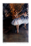 Edgar Degas Dancers On Stage Danseuses Sur Scene Print Poster Posters