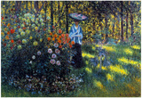Claude Monet Woman with a Parasol in the Garden of Argenteuil Art Print Poster Prints