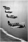 Grumman Fighter Planes 1943 Archival Photo Poster Print